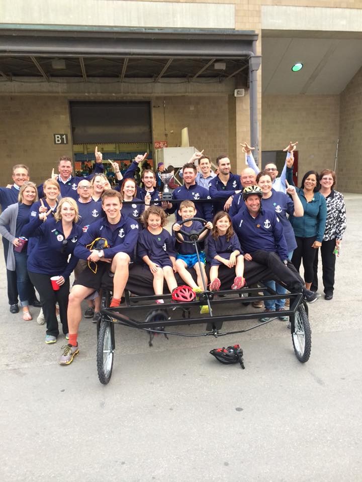 Premier Packaging employees at great bed races in Louisville, KY