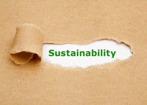 Sustainability written on white board